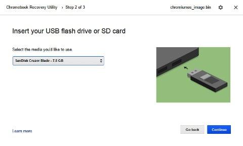 Chrome OS Recovery Utility