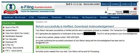 ITR e-Filing Verify