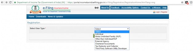 Income Tax Registration Form