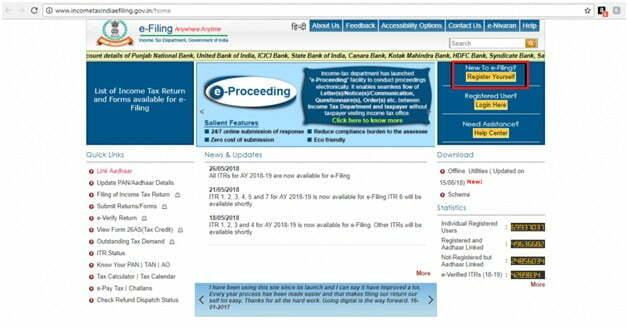 Income Tax Website Login