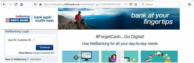 HDFC BANK Net Banking Login