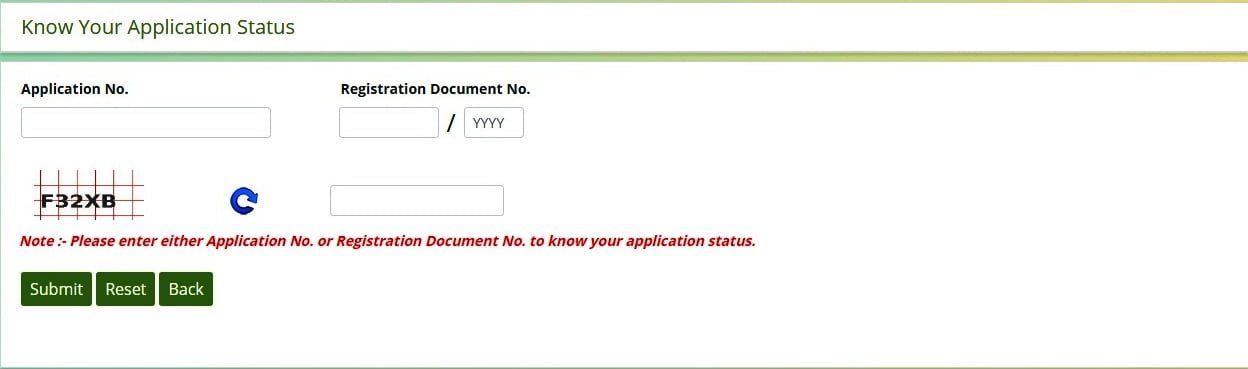 Telangana Dharani Application Status