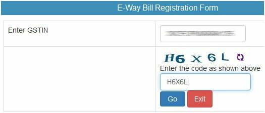 eway Bill Registration Form