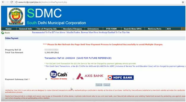 Delhi Property Tax Payment Gateways