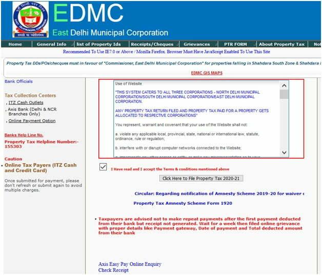File Delhi Property Tax