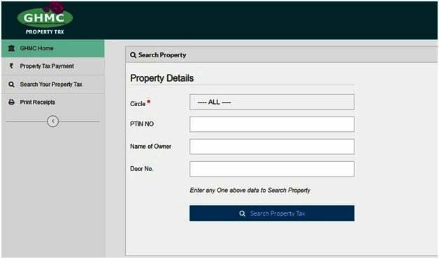 GHMC Property Tax Search