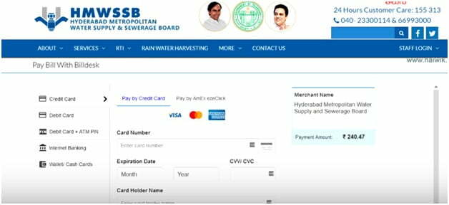 Hyderabad Water Bill Payment