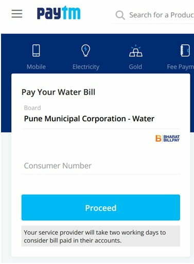 Pune Municipal Corporation Bill Payment by Paytm