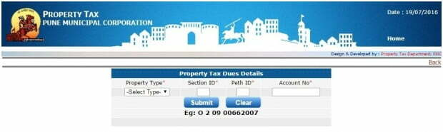 Pune Property Tax Details Search