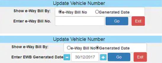 EWB Vehicle Number Update