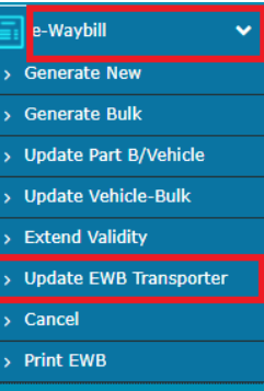 Update EWB Transporter
